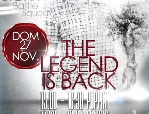 The Legend is back : Storm a Ferrara per 2 workshops. Save the date: Domenica 27 Novembre